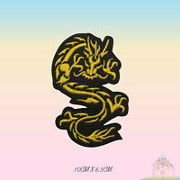 Chines Dragon Embroidered Iron On Patch Sew On Badge Applique