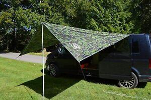 VW Camper Van Sun Canopy Awning Van Conversions Motorhomes 2.4m x 3m Camo Green