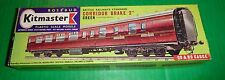 Rosebud Kitmaster Railway Kit CORRIDOR BRAKE 2nd TRAIN COACH GREEN Kit #15 ho