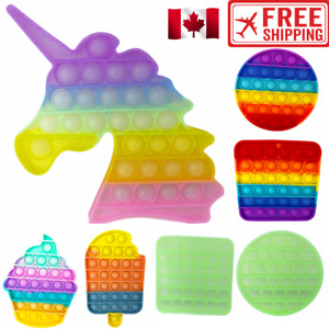 NEW Unicorn Popping Pop Bubbles It Push Game Sensory Stress Anxiety Fidget Toy