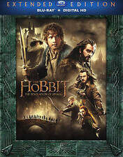 The Hobbit: The Desolation of Smaug (3 Blu-ray Disc, Extended Ed, + Digital) NEW