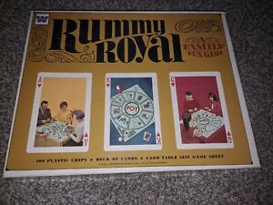 Vintage 1960's Rummy Royal Card Game -Whitman 4804 - missing instructions