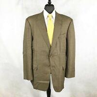 Hickey Freeman men's tan brown Birdseye silk blend blazer jacket sport coat 44R
