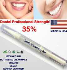 35% Teeth Whitening White Gel PEN (2ml) -PROFESSIONAL STRENGTH - FREE FAST SHIP!