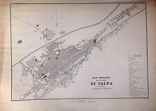 PERÚ,plano topográfico de la ciudad de Tacna.Paz Soldán.Geografía del Perú 1865.
