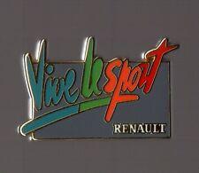 Pin's voiture renault / vive le sport (signé Arthus Bertrand)