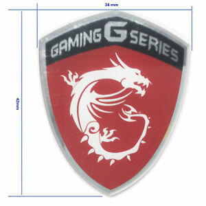 Symbol For MSI GAMING G SERIES DRAGONS STICKER Red 34mmx42mm MSI Letter Included