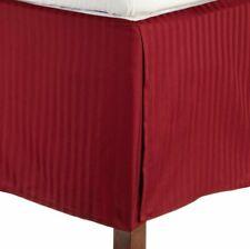 Burgundy Stripe - Tailored Valance/Bedskirt Split Corner 1000 TC Egyptian Cotton