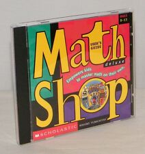 Math Shop Deluxe Scholastic V 1.0 Empowers Kids to Master Math . Win/Mac PC Game