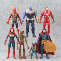 7 Avengers Infinity War Thanos Doctor Strange Captain Marvel Action Figures Toy