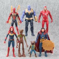 7 Avengers Endgame Thanos Doctor Strange Captain Marvel Action Figures Doll Toy