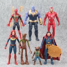 7 Avengers Infinity War Thanos Doctor Strange Captain Marvel Action Figures Toy