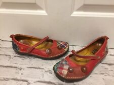 Women's Leather Read Patchwork type shoes Mary Jane Escarpins uk3 eu36
