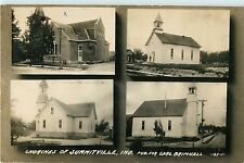 Multiview Postcard, Churches Of Summitville, IN Indiana RPPC 1912