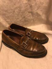 ALLEN EDMONDS St. Thomas V.I.10 D Brown Leather Horsebit Loafers Handcrafted