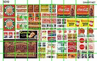 5019 DAVE'S HO DECALS HALF SHEET GROCERY STORE MARKET WINDOW PRICE DISPLAY