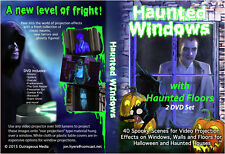 HAUNTED WINDOWS Halloween Video Projection DVDs and FREE MUSIC