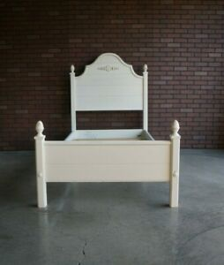 Twin Bed Frame ~ French Farmhouse Bed ~ Country Cottage Bed by Ethan Allen