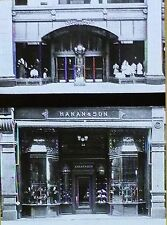 Two Store Fronts in Boston, Massachusetts, Magic Lantern Glass Slide