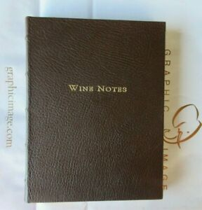 Fortnum & Mason Wine Notes Journal Book Leather Hardcover Brown
