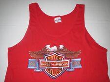 Vtg 1985 Men's Harley Davidson 3D Emblem Tank Top T-shirt Medium **MINT**