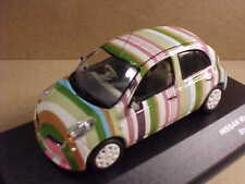 J-COLLECTION #JC211 1/43 Diecast 2007 Nissan March Supermini Striped Version