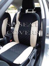 i - TO FIT A SEAT MII CAR, S/ COVERS, BEIGE / BLACK STITCH, FULL SET
