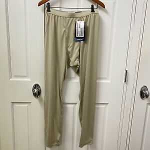 Polartec Cold Weather Drawers Base Layer Pants Light Weight Size M Beige NEW