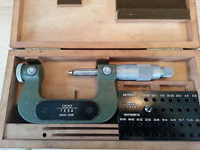 "Tesa micromètre 1-2"" micrometer swiss made boitier case"