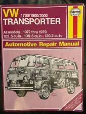 Haynes Manuals: VW Transporter 1700, 1800 and 2000, 1972-1979 No. 226 by K. F. K