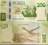 MEXICO 200 PESOS 2019 COMM. P NEW DESIGN UNC