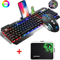 US Wired Gaming Keyboard Mouse and Mice pad Sets RGB Backlit for PC PS4 Xbox one