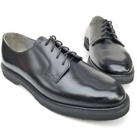 Rocky Comfort Oxfords Black Leather Men's Oil Resistant Work Shoes Size 10.5 W