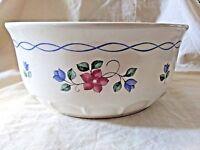 """Pfaltzgraff Bonnie Brae Round Baker Serving Dish 7 1/2"""" Retired Blue Pink Flower"""