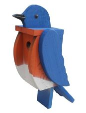 BLUEBIRD BIRDHOUSE Solid Wood Large Blue Bird House - AMISH HANDMADE in USA