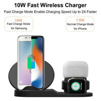 3-in-1 Wireless Charger Stand 10W Station for iphone 11 Charging for AirPods Pro