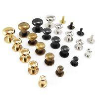 Sam brown button screw studs round head Browne monk rivets  5 8 9 10 13 mm