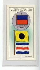 (Jd8885) INTERNATIONAL TOBACCO,INT CODE OF SIGNALS,E-I C,1934,#16