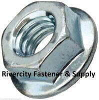 (5) M10-1.0 Steel Flange Spin Nut M10x1.0 Flare Nuts 10mm x 1.0 Fine Thread