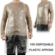 Disposable Plastic Aprons Protection Body Polythene Clear PPE