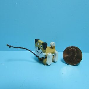 Dollhouse Miniature Wood Children's Dog Pull Toy  IM65027