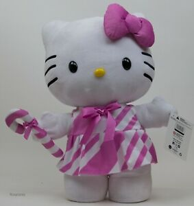 Sanrio Christmas 20 in Hello Kitty with Candy Cane Porch Greeter NWT