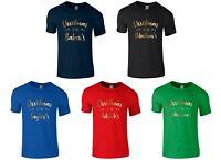 Personalised CHRISTMAS AT THE Boys T-Shirt - Funny Printed Xmas Novelty Gold