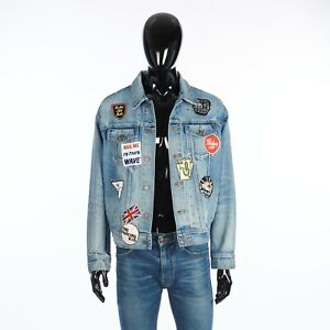 CELINE 3150$ Loose Trucker Jacket In Star Wash Denim