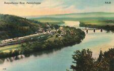 Susquehanna River, Pennsylvania, PA, Unused Linen Vintage Postcard a447