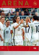 Frauenfußball Deutschland - Spanien 2018