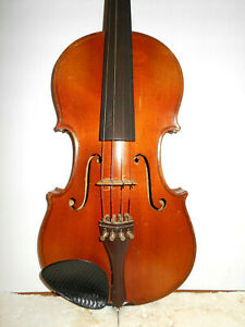 """Old Vintage Antique Early 1900s """"Stradiuarius"""" 2 Pc Back Full Size Violin  NR"""