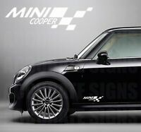 MINI COOPER DECALS 30CM STICKERS (PAIR) MANY COLOURS