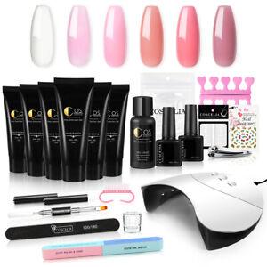 Poly Nails Gel Kit UV Poly Nails Gel UV Extension Builder Gel Slip Solution Tips