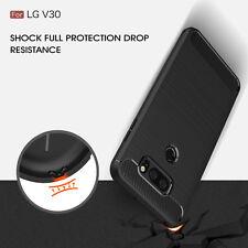HQ For LG V30  H931 (АТ&Т) H932 (T-Mobile) Carbon Fiber Texture Slim TPU Case